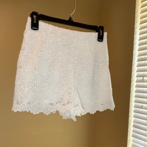 Charlotte Russe lace flower shorts